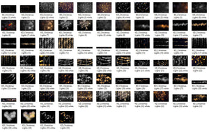 Christmas Lights Bokeh Overlays - Photoshop Overlays, Digital Backgrounds and Lightroom Presets