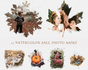 Watercolor Fall Photo Masks