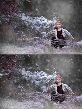 Load image into Gallery viewer, White Winter Snow Effect PS Actions - Photoshop Overlays, Digital Backgrounds and Lightroom Presets