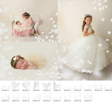 Load image into Gallery viewer, White Heart Confetti Photo Overlays - Photoshop Overlays, Digital Backgrounds and Lightroom Presets