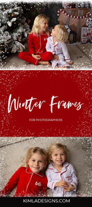 Winter Frames Overlays - Photoshop Overlays, Digital Backgrounds and Lightroom Presets