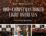 Load image into Gallery viewer, 400+ Bundle Christmas Bokeh Lights Overlays