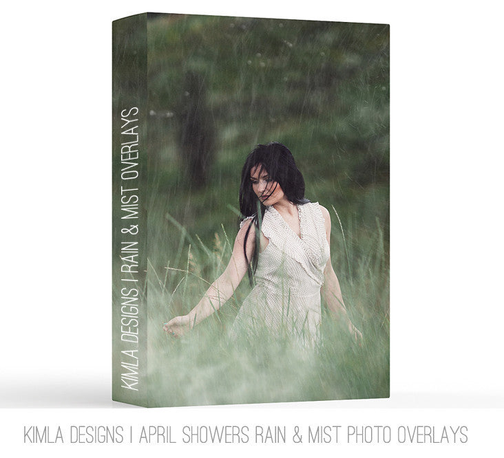 April Showers  Photo Overlays - Photoshop Overlays, Digital Backgrounds and Lightroom Presets