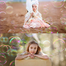 Load image into Gallery viewer, Rainbow Bubbles Photo Overlays - Photoshop Overlays, Digital Backgrounds and Lightroom Presets