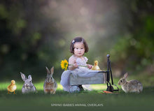 Load image into Gallery viewer, Spring Babies Animal Overlays - Photoshop Overlays, Digital Backgrounds and Lightroom Presets