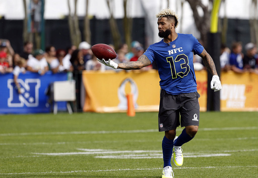 Odell Beckham Jr showcases his hands by catching a ball dropped 125 feet by a drone | Odell Beckham Jr