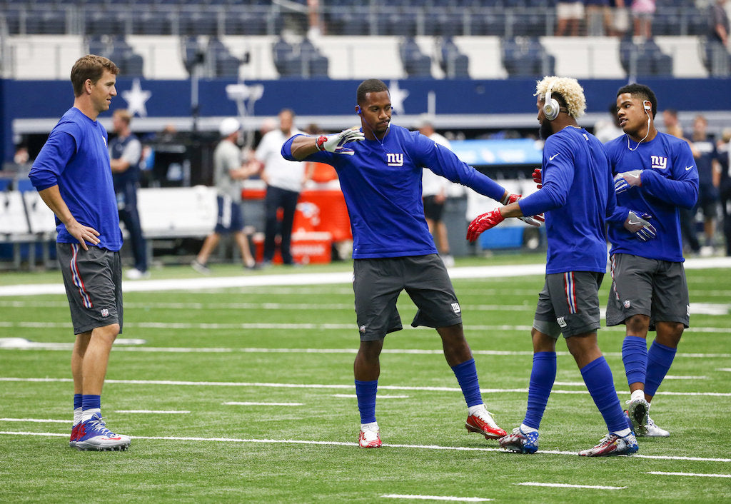 Giants receivers explain origin of viral handshake routine | Odell Beckham Jr