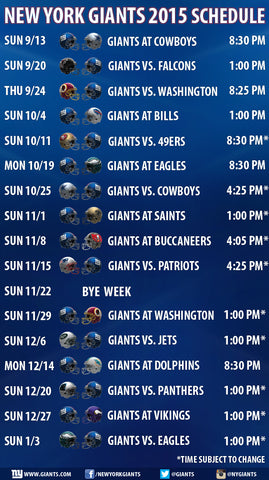 Odell Beckham Jr New York Giants 2015 Schedule