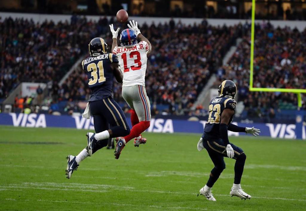 Banged-up Odell Beckham provides quieter heroics for Giants | Odell Beckham Jr