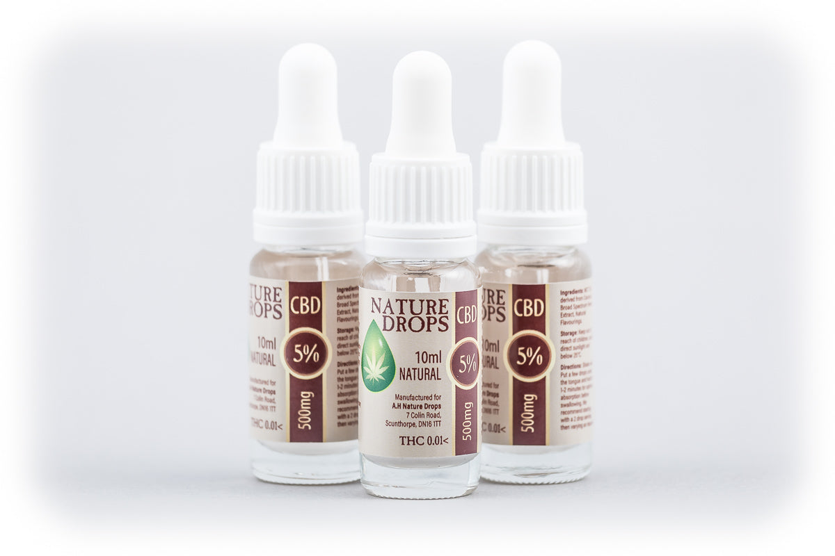 5% CBD in MCT oil 10ml - NATURAL, Vitamins & Supplements - Image 1