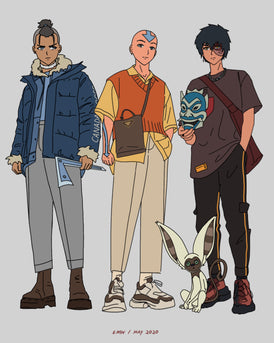 AANG, SOKKA, AND ZUKO PRINT
