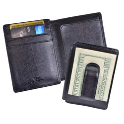 Personalized Saffiano Money Clip ID Wallet