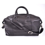 Personalized Nappa Leather Euro Traveler Petite Luggage Bag