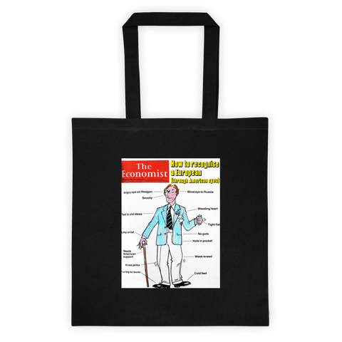 Tote bag: How to recognise a European (through American eyes)