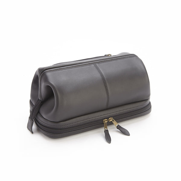 black saffiano leather toiletry travel grooming wash bag the economist store economist diaries. Black Bedroom Furniture Sets. Home Design Ideas