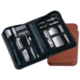 Nappa Leather Travel & Grooming Kit