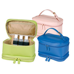 Personalized Ladies Cosmetic Leather Travel Case