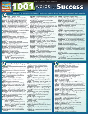 1001 Words For Success Laminated Reference Guide