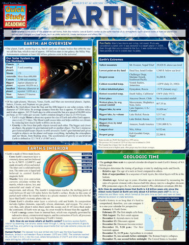 Earth Laminated Reference Guide