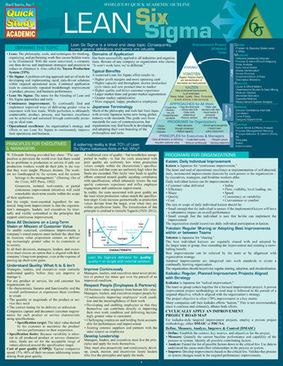 Lean Six Sigma Laminated Reference Guide The Economist