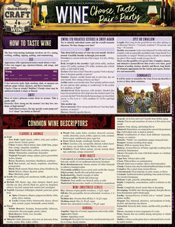Wine –Choose, Taste, Pair & Party Laminated Reference Guide