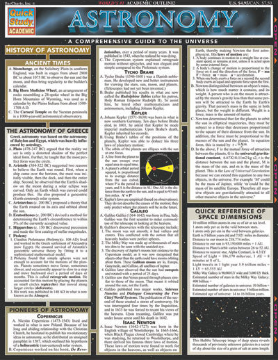 Astronomy Laminated Reference Guide