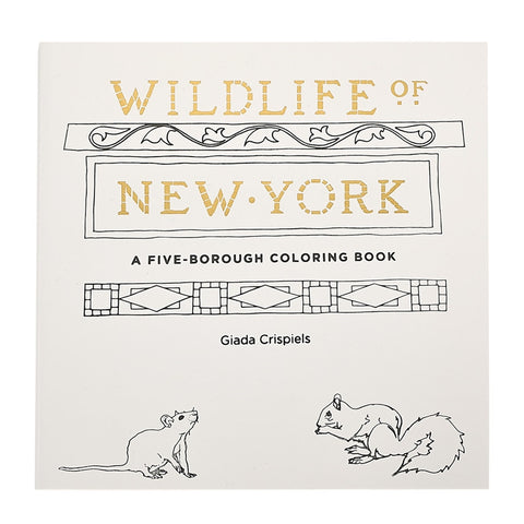 Wildlife of New York Adult Coloring Book