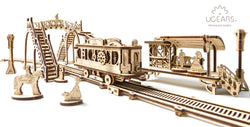 3D Mechanical Puzzle Mechanical Town Series Tram Line