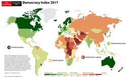 The Economist Intelligence Unit - Democracy Index Poster 2017