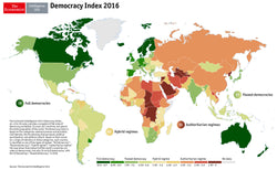 The Economist Intelligence Unit - Democracy Index Poster 2016