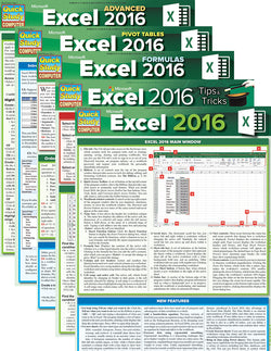 Excel 2016 Reference Guide Bundle