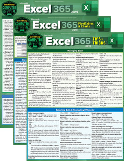 Excel 365 Reference Guide Bundle