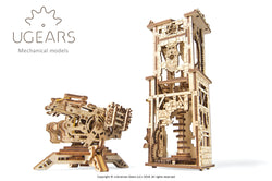 3D Mechanical Puzzle Archballista-Tower Model