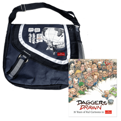 Daggers Drawn + KAL messenger bag Bundle