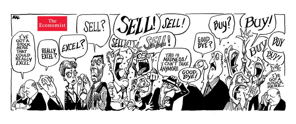 Mug: Buy! Buy! Sell! from Kal – The Economist Store & Economist Diaries