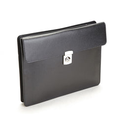 Personalized RFID Blocking Saffiano Leather Executive Underarm Portfolio Brief