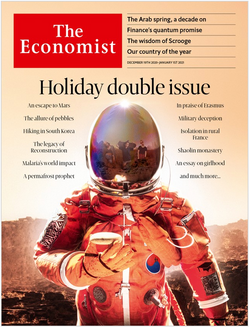 The Economist in Print OR Audio: December 19th, 2020