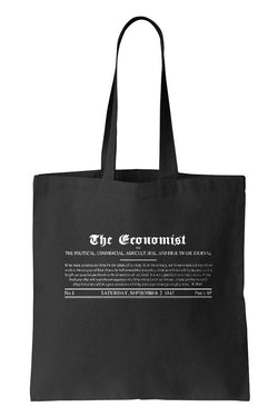 Tote bag: 1843 Economist Masthead (Black-100% Cotton)