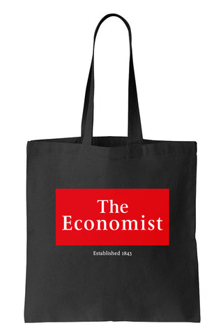 Tote bag: Established 1843 (Black-100% Cotton)