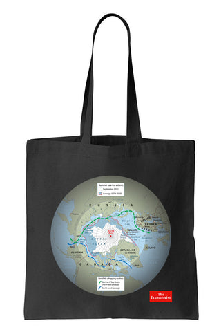 Tote bag: Outsiders in the Arctic (Black-100% Cotton)