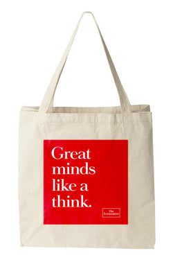 Tote bag: Great minds like a think. (Natural)