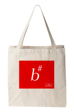 Tote bag: B# Sharp (Natural)