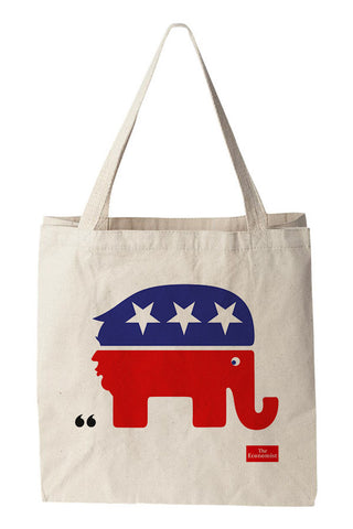 Tote bag: The debasing of American politics