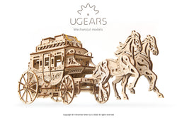 3D Mechanical Puzzle Stagecoach Model
