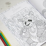 Personalized Adult Animal Coloring Book