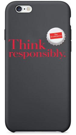 The Economist I-Phone Case:Think Responsibly