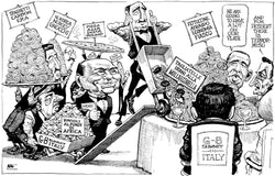 G8 Summit Italy signed Kal print