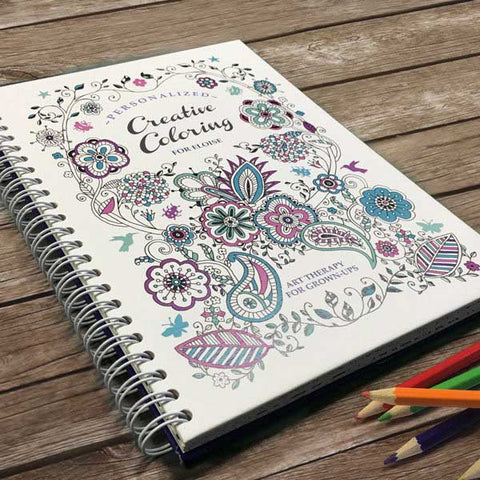 Personalized Creative Adult Coloring Book Travel Size