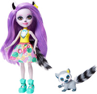 Enchantimals GFN44 Larissa Lemur Doll (6-in) & Ringlet Animal Friend Figure