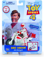 Disney Pixar Toy Story 4 Pull N Go Duke Caboom with Motorcycle